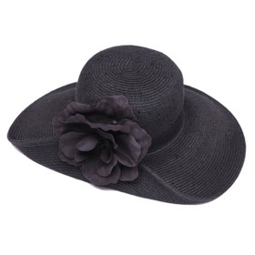 Something Special - Black Folded Front Brim Sun Hat