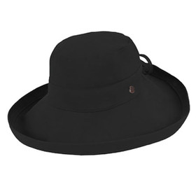 Kooringal - Noosa Cotton Canvas Upturn Brim Hat Black