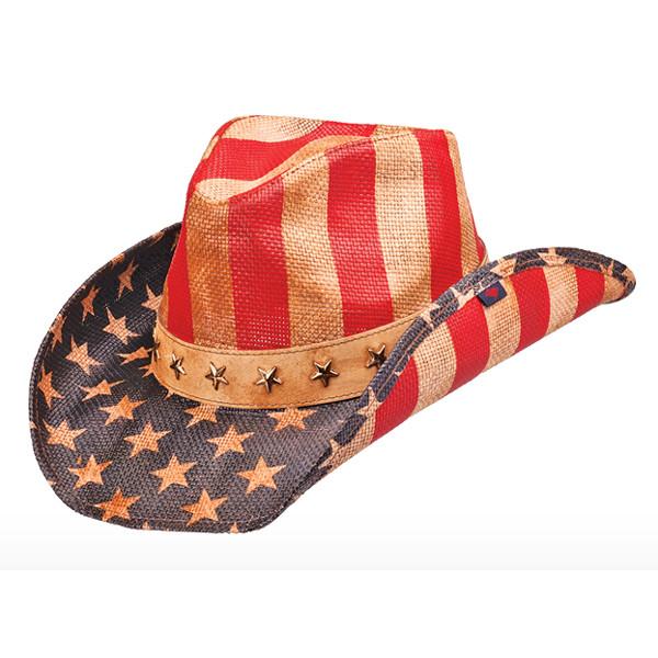 Peter Grimm - Vintage American Flag Cowboy Hat