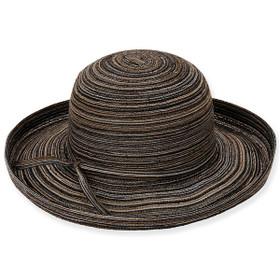 Sun 'N' Sand - Black Coastal Craze Upturn Brim Hat