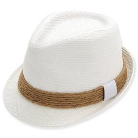 Sun 'N' Sand - White Abaven Straw Fedora Hat
