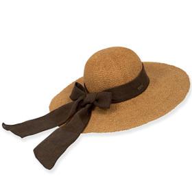 Sun 'N' Sand - Melina Crochet Straw Wide Brim Hat