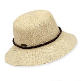 Sun 'N' Sand - Natural Bryn Crochet Straw Cloche Hat