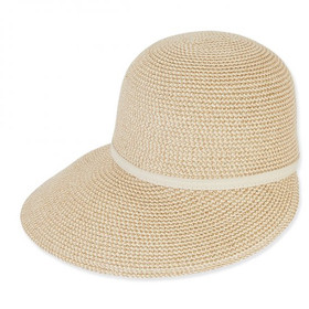 "Sun 'N' Sand - Natural Ozekix 4"" Brim Tweed Cap"