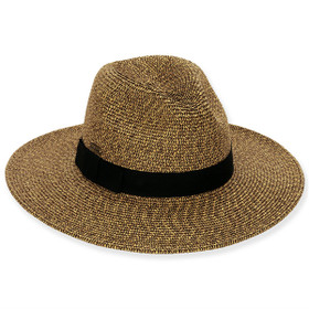 Sun 'N' Sand - Fossil Stone Large Brim Fedora Hat
