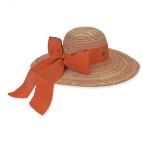 Sun 'N' Sand - Multicolor Istech Multicolor Polyester Hat with Linen Scarf