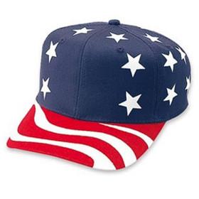 Otto Cap - US American Flag Snapback Hat Main