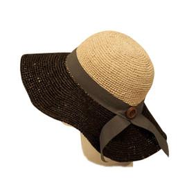 Dynamic Asia - Two Tone Crochet Raffia Sun Hat Natural Style