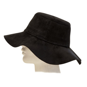 Downtown Style - Faux Suede Floppy Hat Black
