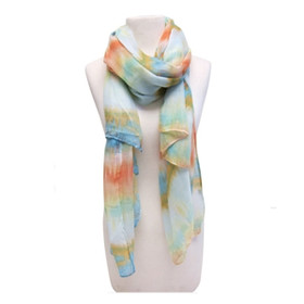 Downtown Style - Painted Zigzag Scarf - Orange