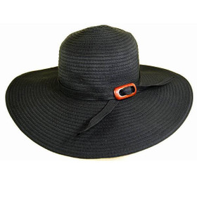 Boardwalk Style - Black Ribbon Crushable Hat With Buckle