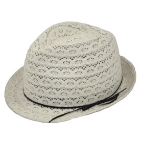 Jeanne Simmons - Lace Fedora Hat
