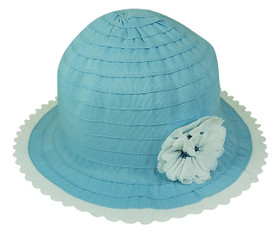 Boardwalk Style - Child's Ribbon Crusher With Flower Blue