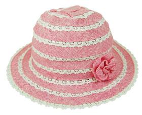 Boardwalk Style - Child's Linen Blend Sun Hat with Flower