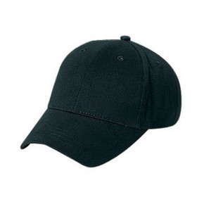 Otto Cap Kids Twill Baseball Cap in Black - Full View