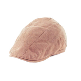 TLS Stefeno Cecil 5 Panel Duckbill Cap in Beige - Full View