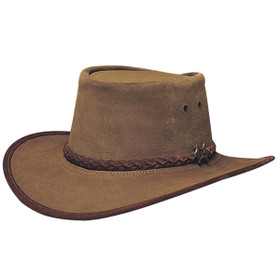 Conner - Khaki Stockman Suede Hat