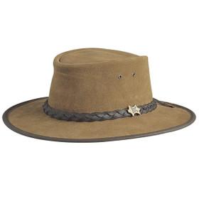 Conner - Bark Bush Walker Suede Leather Hat