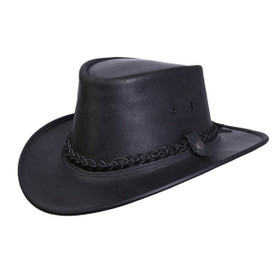 Conner Bac Pac Traveller Hat in Black - Full View