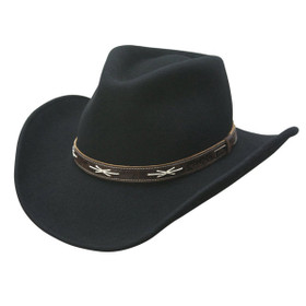 Conner - High Noon Western Cowboy Hat in Black - Full View