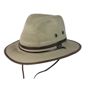 Conner - Oak Tree Island Hat in Khaki- Full View