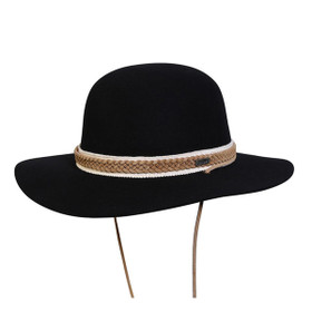 Conner - Move To The Music Wool Hat in Black - Full View