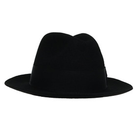Dorfman Pacific - Stacy Adams Classic Fedora in Black - Full View