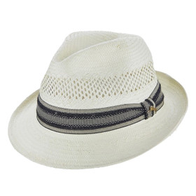 Tommy Bahama - Tropical Dress Fedora Hat in Ivory - Full View