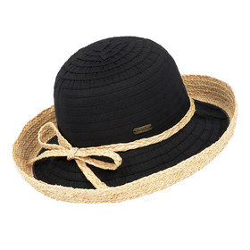Sun 'N' Sand - Akira Ribbon Straw Hat - Black