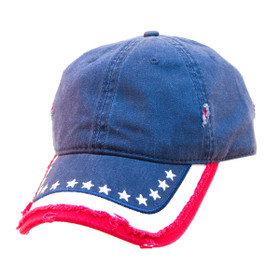Otto Cap - Distress American Flag Cap - Full View