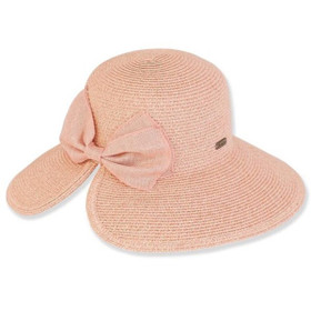 Sun 'N' Sand - Braided Butterfly Back Hat in Coral