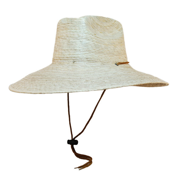 Jacobson- Straw Lifeguard Sun Hat in Natural - Full View