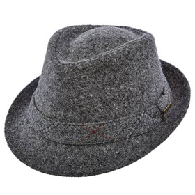 Stetson - Authentic Italian Wool Fedora in Grey - Full