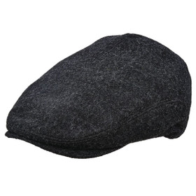 Stetson - Plaid Lined Wool Ivy Cap in Charcoal - Full View