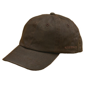Stetson - Distressed Cotton Baseball Cap - Full View