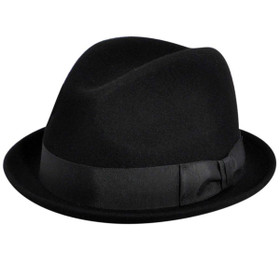 Country Gentleman - Floyd Wool Felt Fedora in Black
