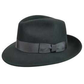Country Gentleman - Frederic Felt Fedora in Black
