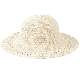 San Diego Hat Company - Cotton Crochet Mid Brim Sun Hat in Natural