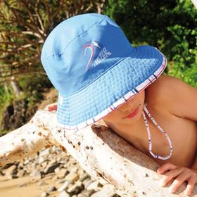 Kooringal - Grommie Reversible Floppy Hat Blue