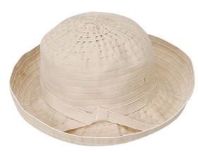 Jeanne Simmons - Beige Ribbon Bucket Hat Beige