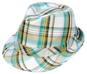Kenny K - Summer Plaid Fedora Hat