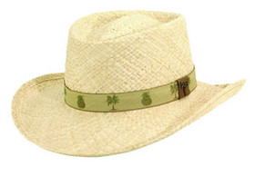 Scala - Palm Pineapple Raffia Gambler Hat
