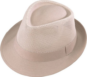 Henschel Hat Co. - Mesh Natural Fedora Hat