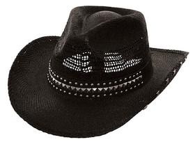 Kenny K - Black Studded Cowboy Hat