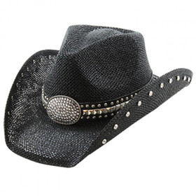 California Hat Company - Black Studded Cowboy Hat