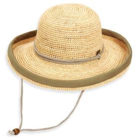 Sun 'N' Sand - Crocheted Raffia Up Brim Sun Hat