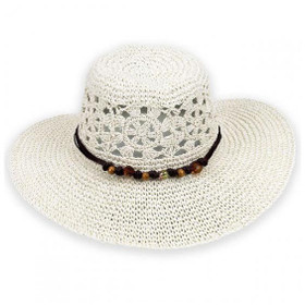 Sun 'N' Sand - Prairie Provincial White Sun Hat