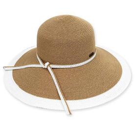 Sun 'N' Sand - White Adona Big Brim Sun Hat