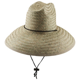 Dorfman Pacific - Palm Lifeguard Straw Sun Hat Natural