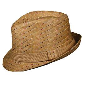 Dorfman Pacific - Multicolor Toyo Fedora Hat